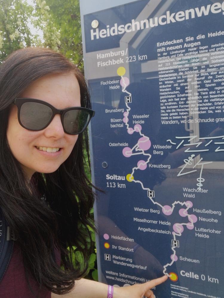 Geschafft: Am Ziel in Celle!