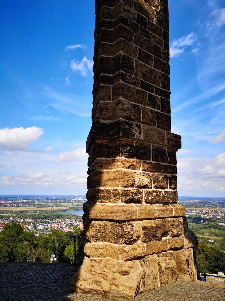 Ausblick vom Denkmal